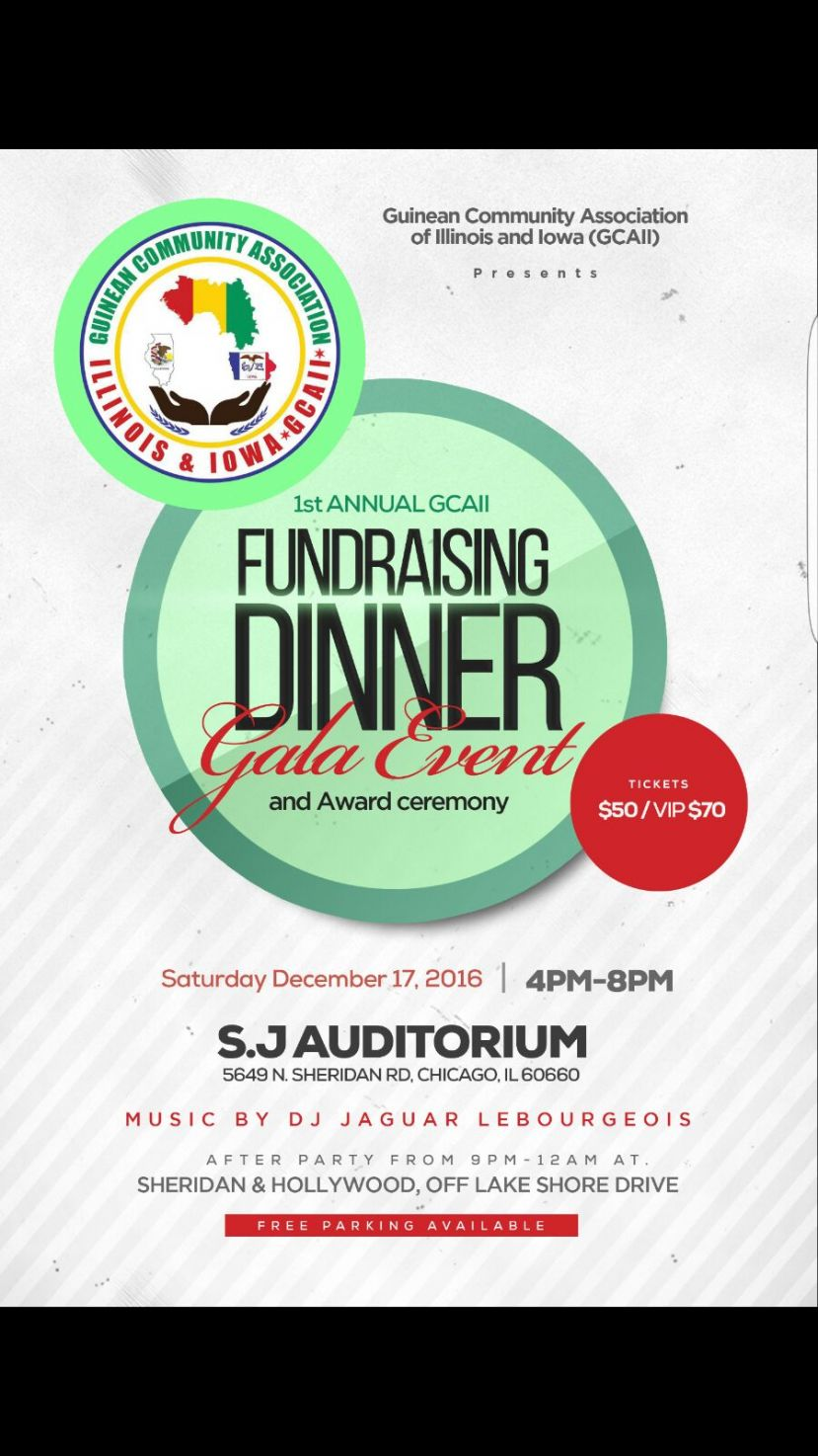 Invitation to our 1st Annual Dinner Gala/Fundraising/Award Ceremony